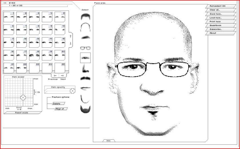 screen capture of ultimate flash face app